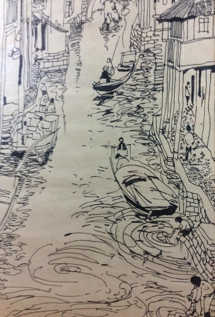 Chinese painting, hand painted, sketch on paper. - 4