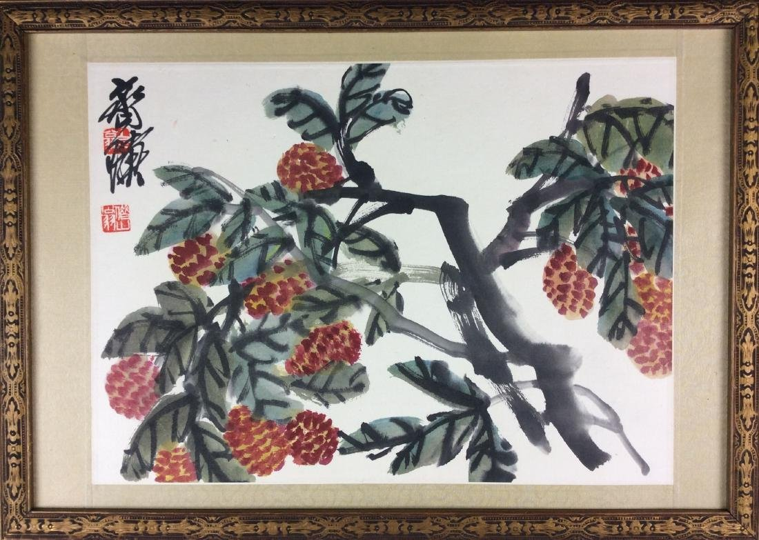 Chinese painting, water color and ink hand painted on - 2