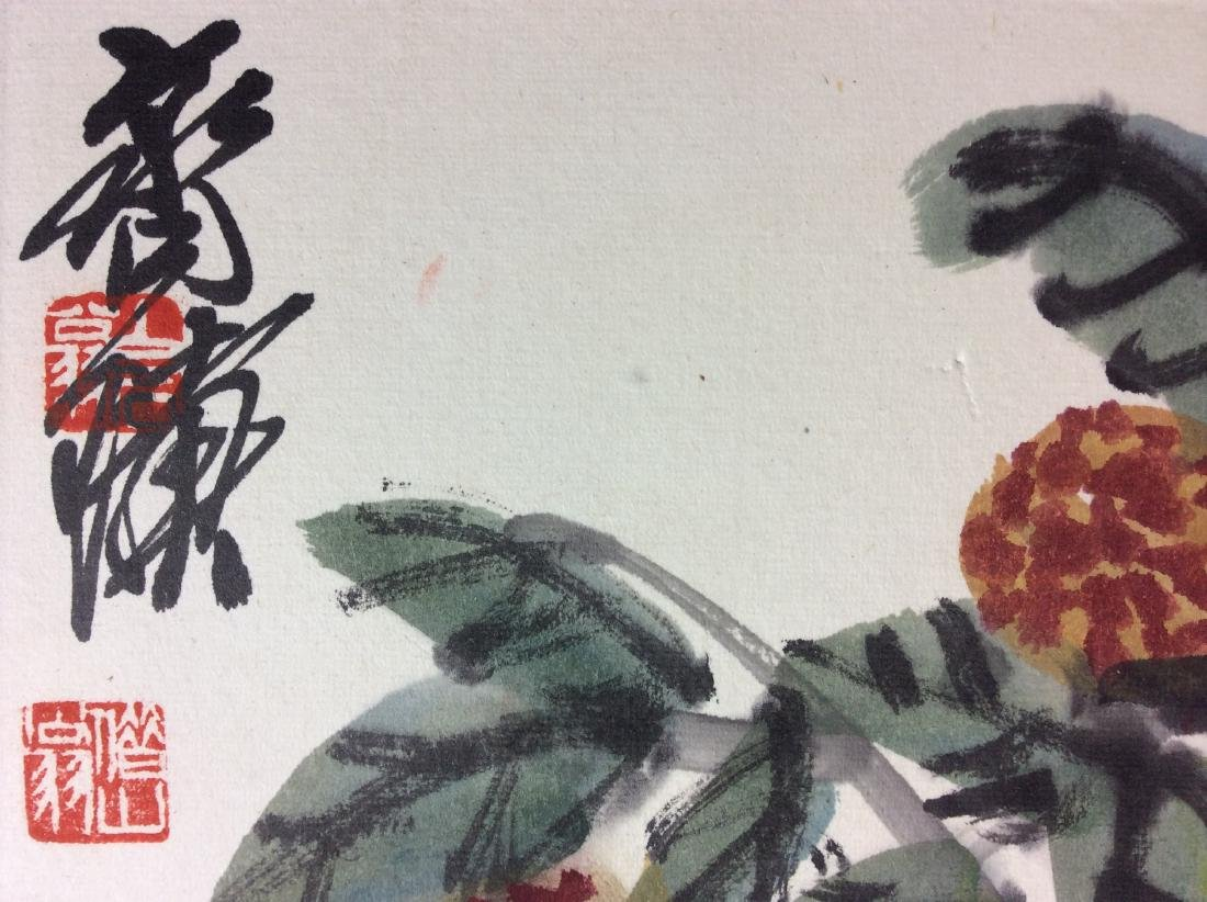 Chinese painting, water color and ink hand painted on - 3