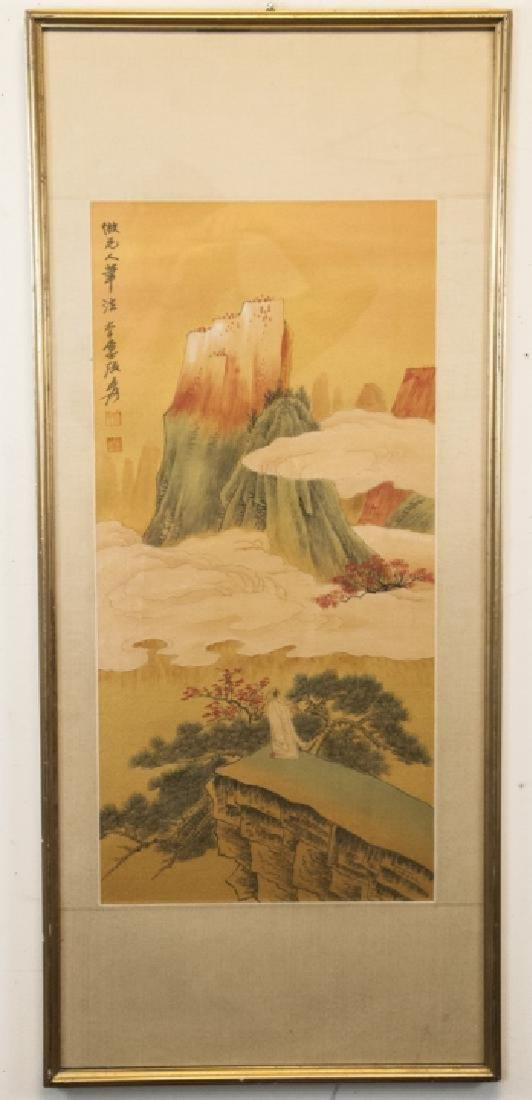 Chinese mountainous landscaping painting hand painted - 2