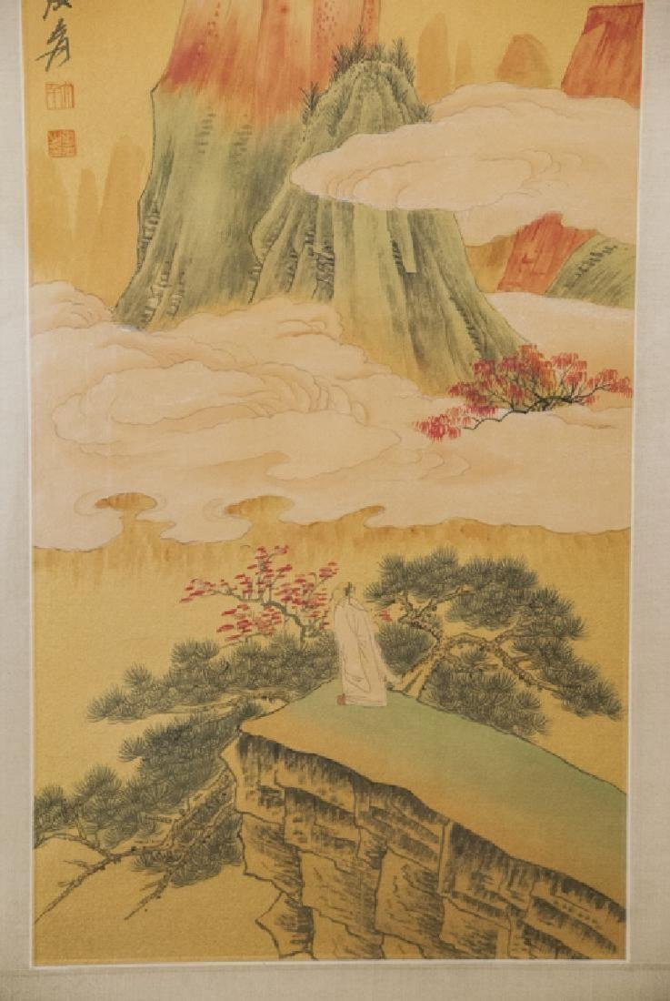 Chinese mountainous landscaping painting hand painted - 5