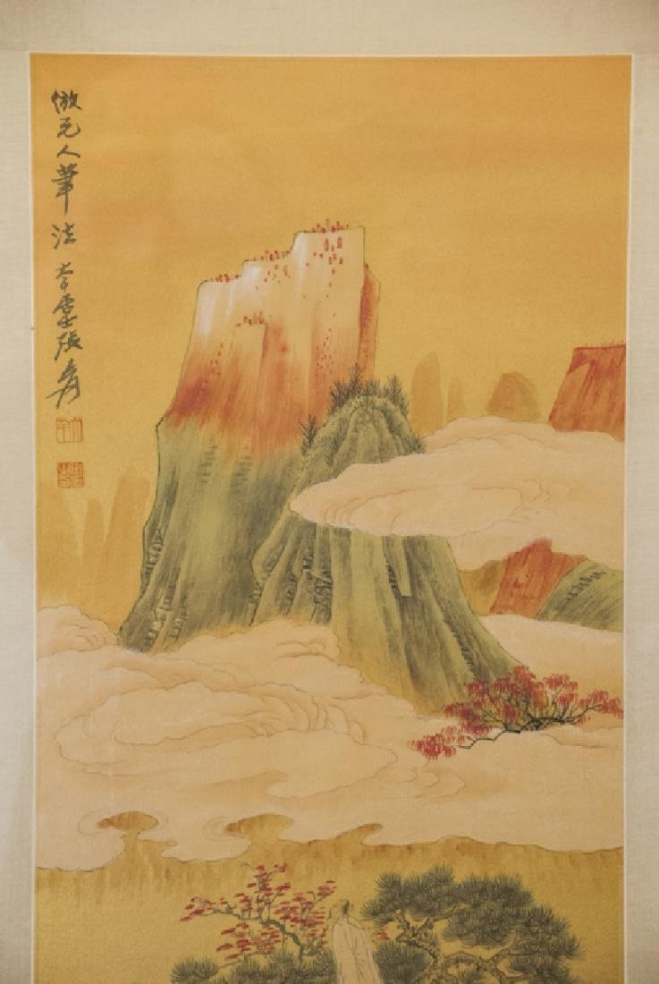 Chinese mountainous landscaping painting hand painted - 6