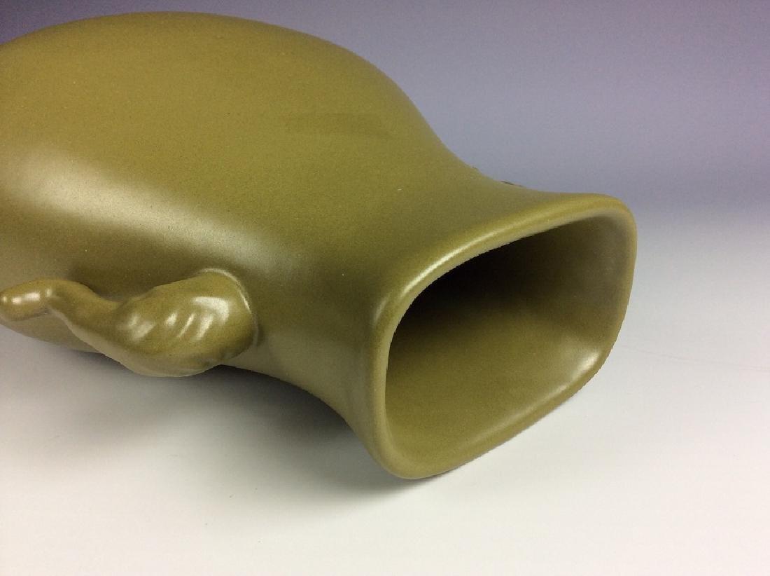 Chinese porcelain vase, tea dust glaze, marked - 3