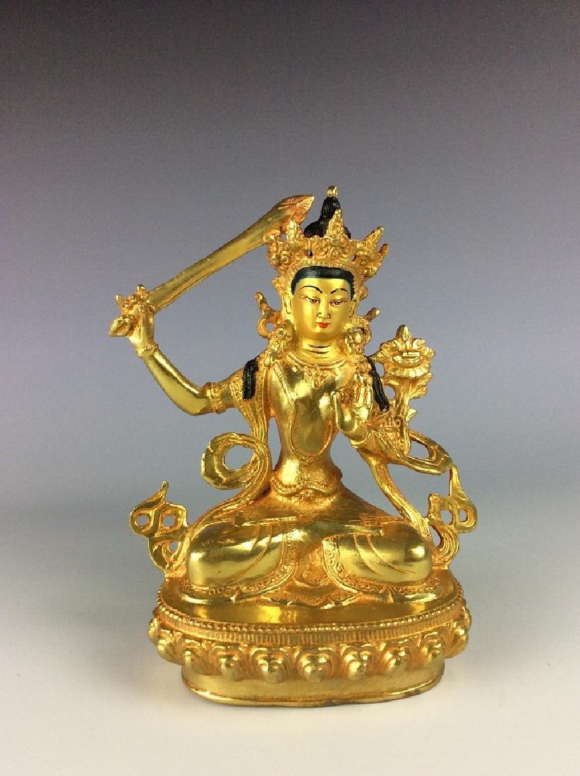 Rare Chinese gilt-bronze buddha figure,