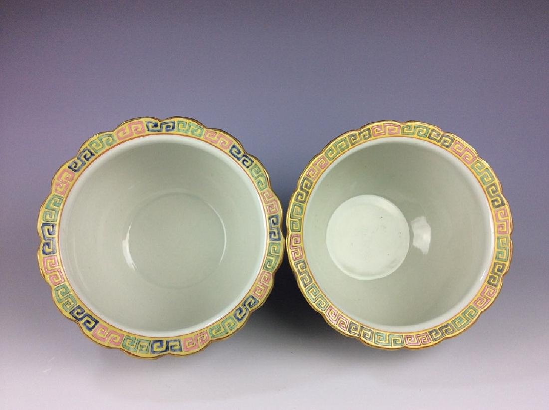 Pair of Chinese pots with eight auspicious - 5