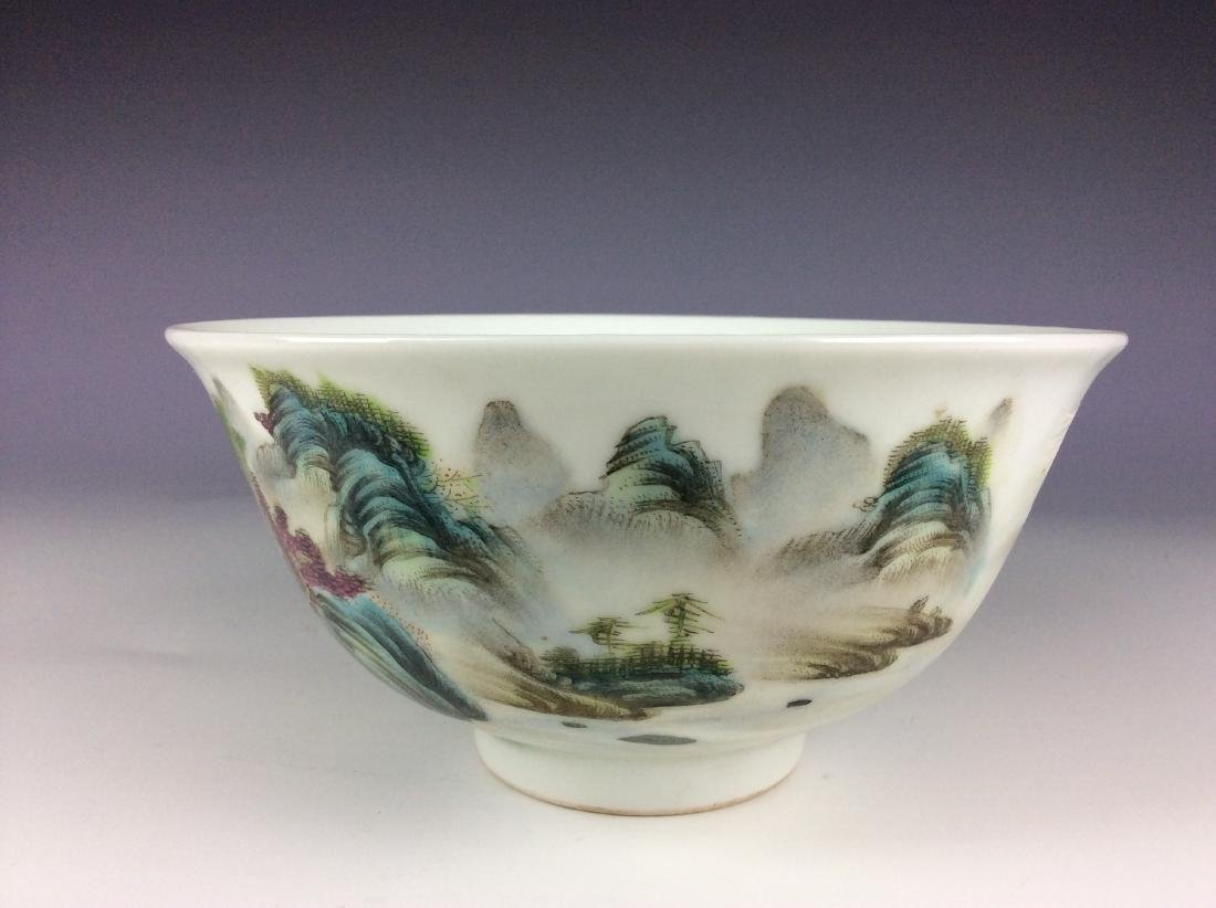 Elegant Chinese bowl with landscaping mark - 2