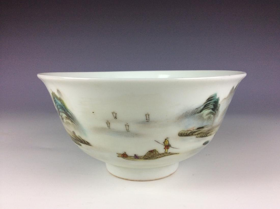 Elegant Chinese bowl with landscaping mark - 5