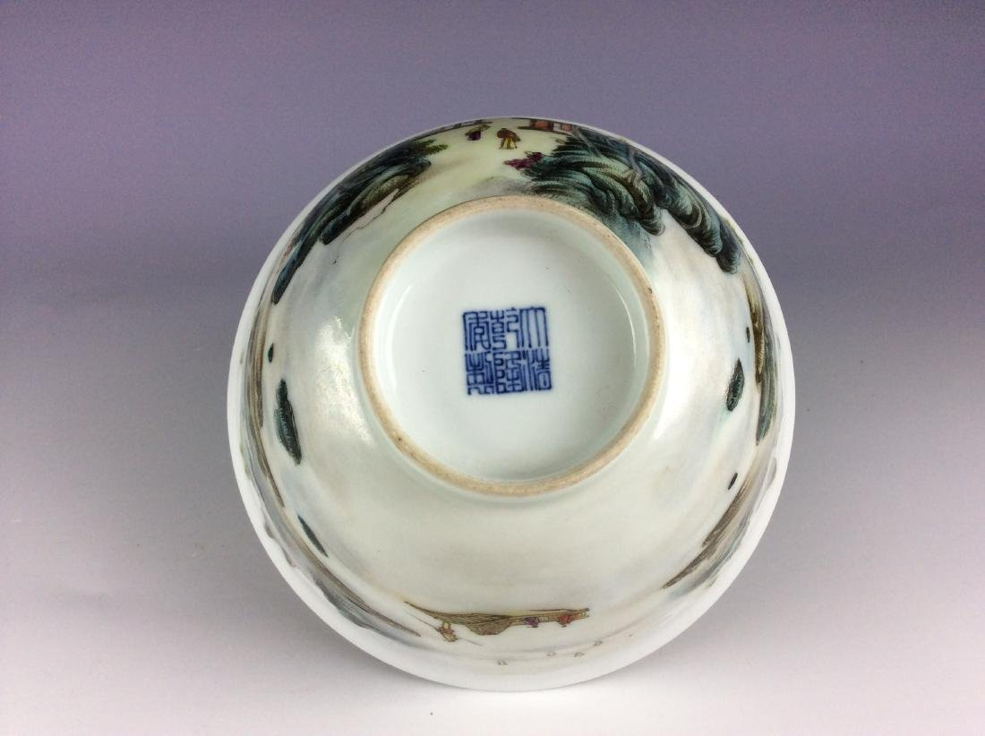 Elegant Chinese bowl with landscaping mark - 6