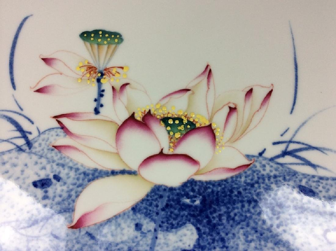 Rare & Fine Large Chinese porcelain plaque,  decorated - 4