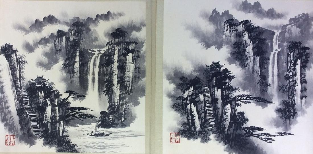Chinese painting, hand painted leaves, 8 ndividual - 3