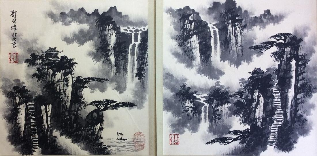 Chinese painting, hand painted leaves, 8 ndividual - 4
