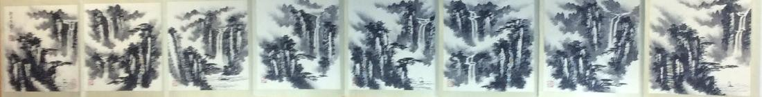 Chinese painting, hand painted leaves, 8 ndividual - 5