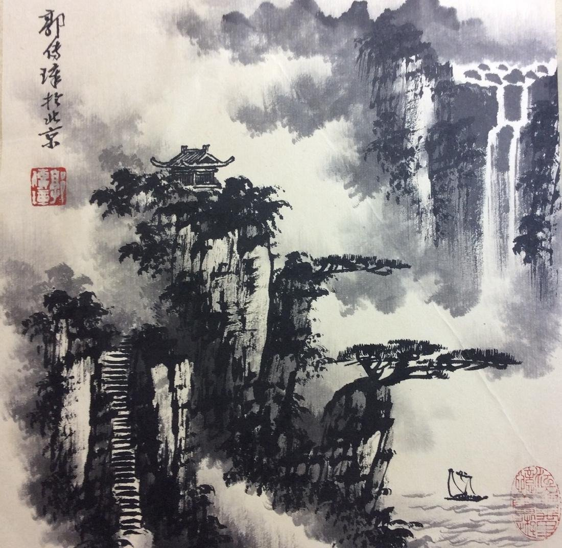Chinese painting, hand painted leaves, 8 ndividual - 6