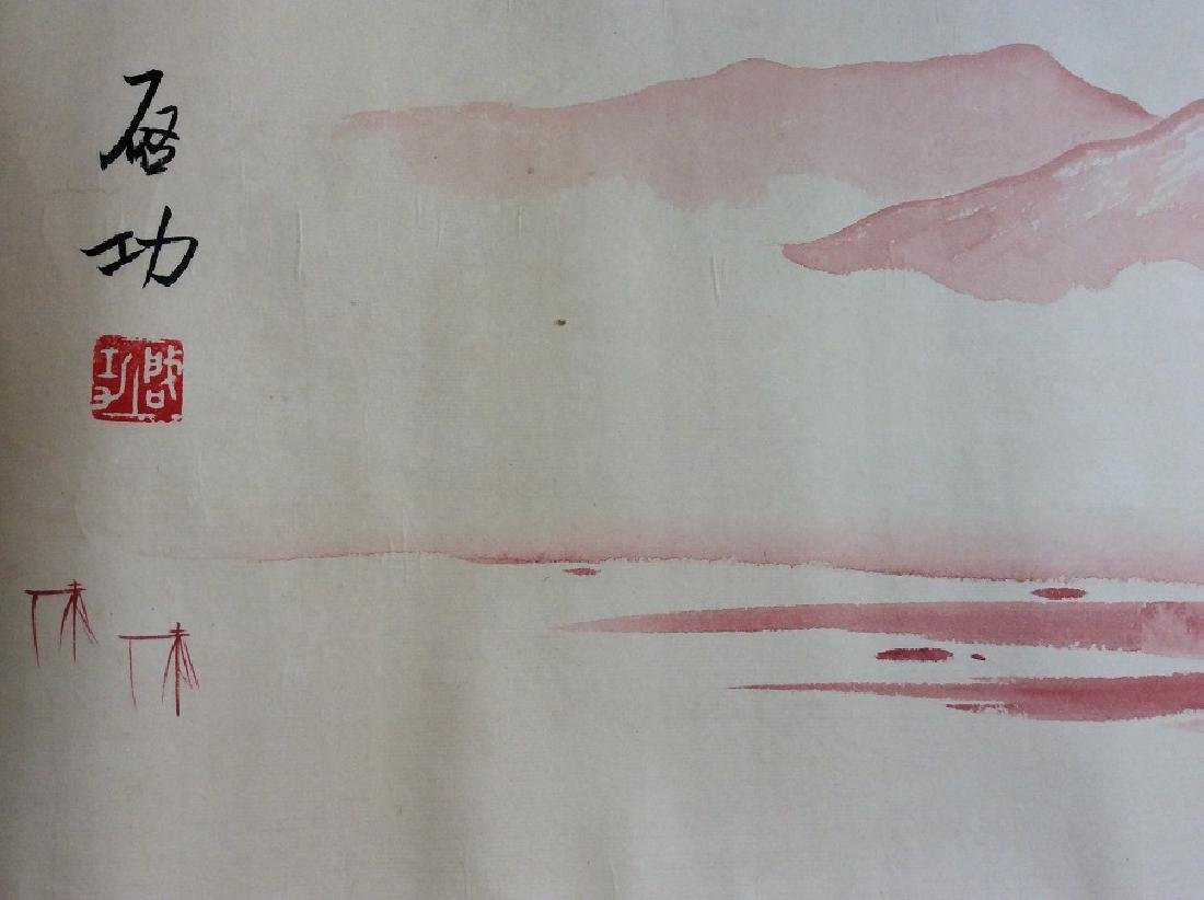 Chinese painting, hand painted hand roll, ink and - 5