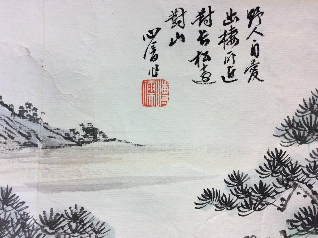 Fine Chinese painting leave, water color and ink on - 2