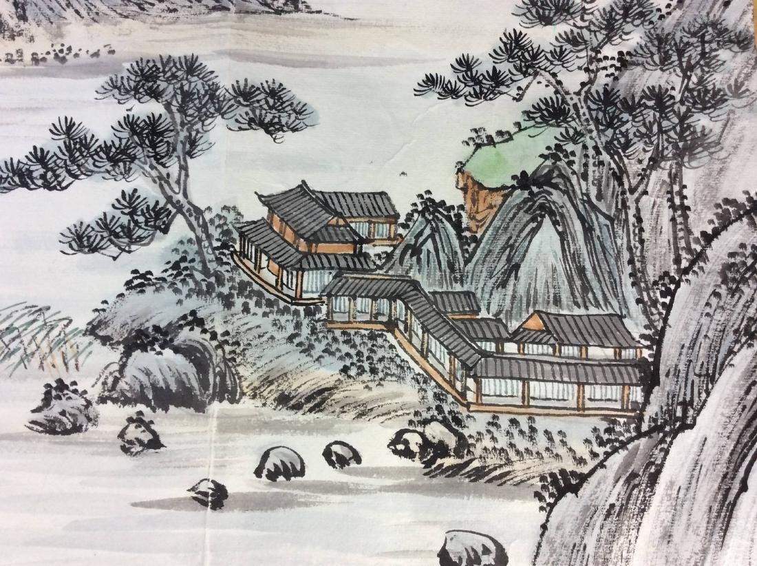 Fine Chinese painting leave, water color and ink on - 3