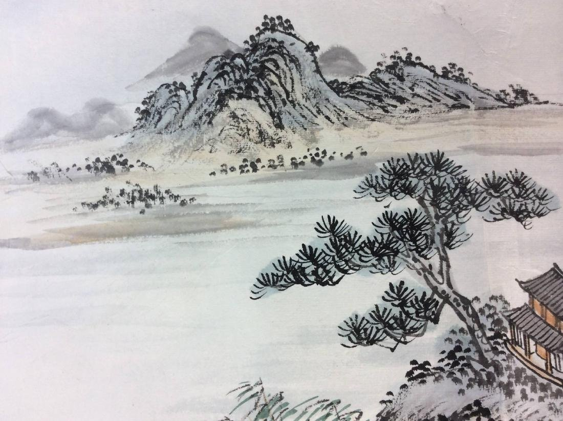 Fine Chinese painting leave, water color and ink on - 4