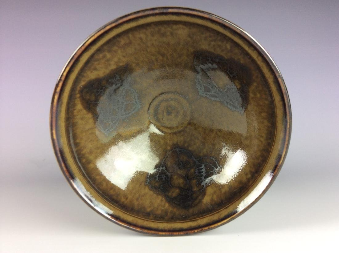 Chinese Ji-Zhou kiln brown porcelain bowl with papper