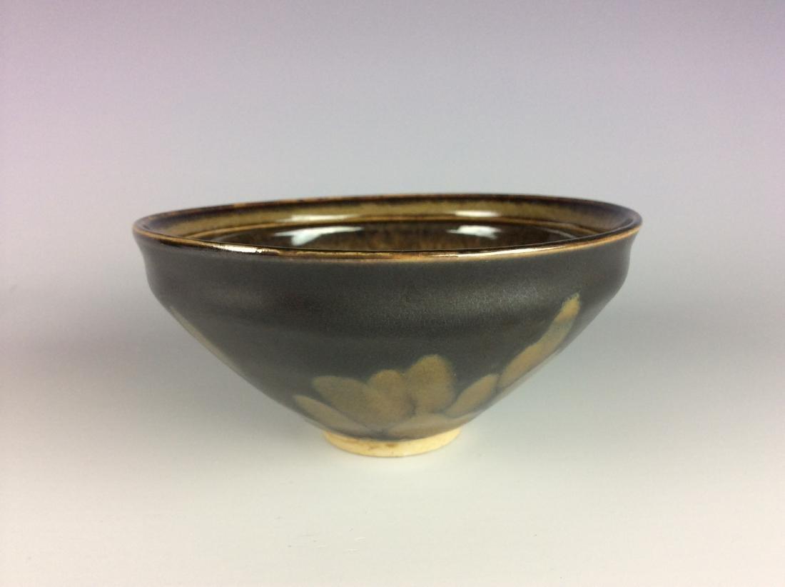 Chinese Ji-Zhou kiln brown porcelain bowl with papper - 3