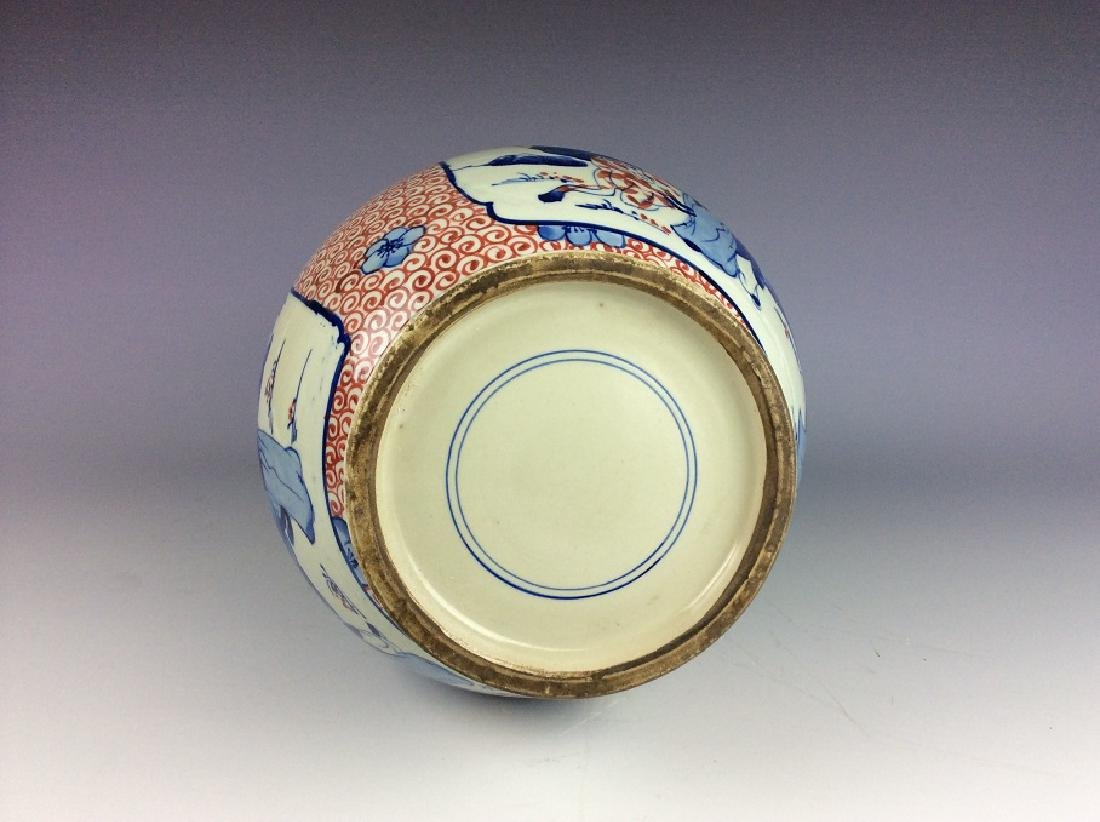Chinese porcelain vase , underglaze-red with blue & - 4