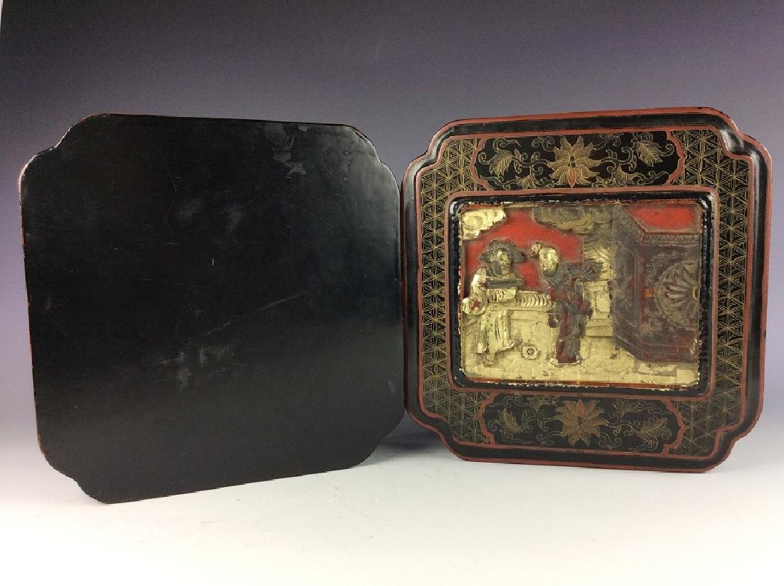 Vintage Chinese lacquer box - 4