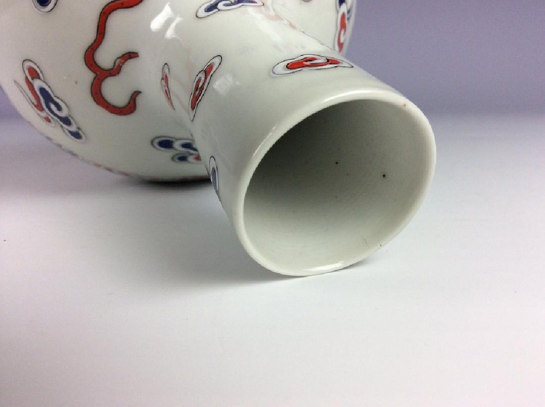 Fine Chinese porcelain vase,  decorated , Signed - 4