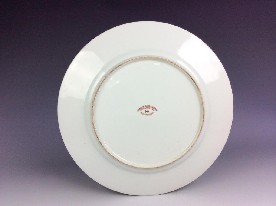 Export Chinese porcelain plate, famille rose glazed, - 2
