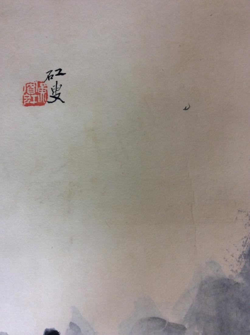 Chinese hand painted painting ink and color on paper - 3