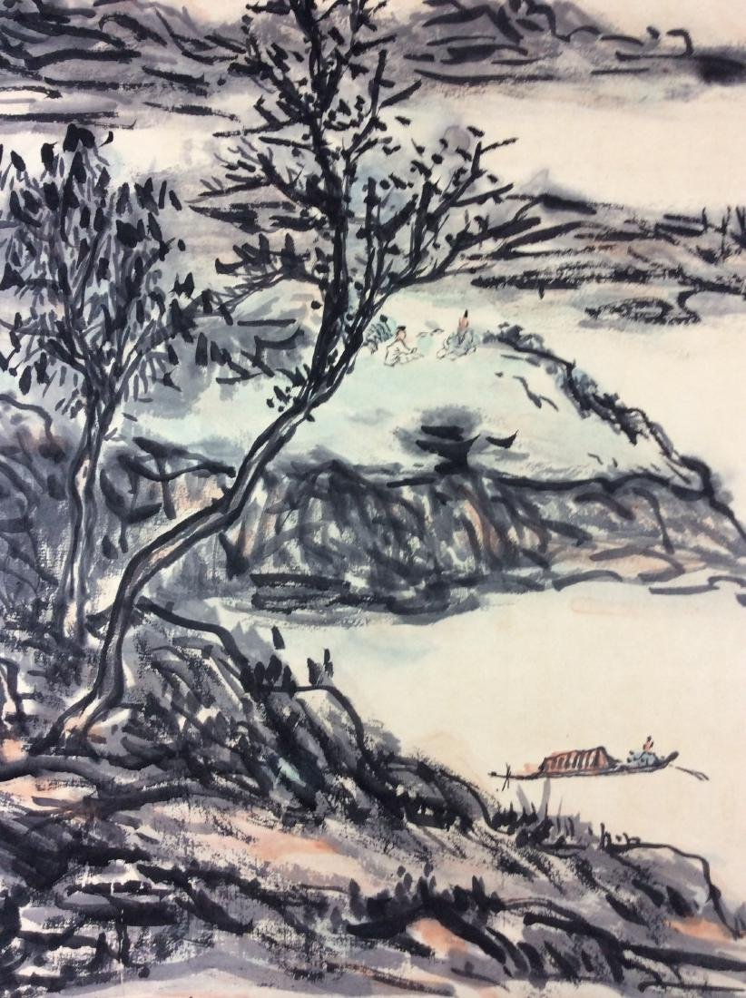 Chinese hand painted painting ink and color on paper - 4