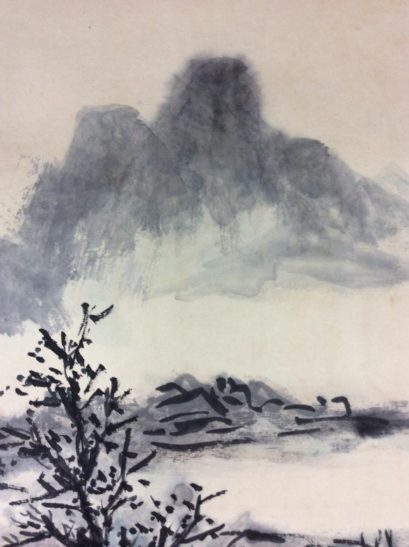 Chinese hand painted painting ink and color on paper - 5
