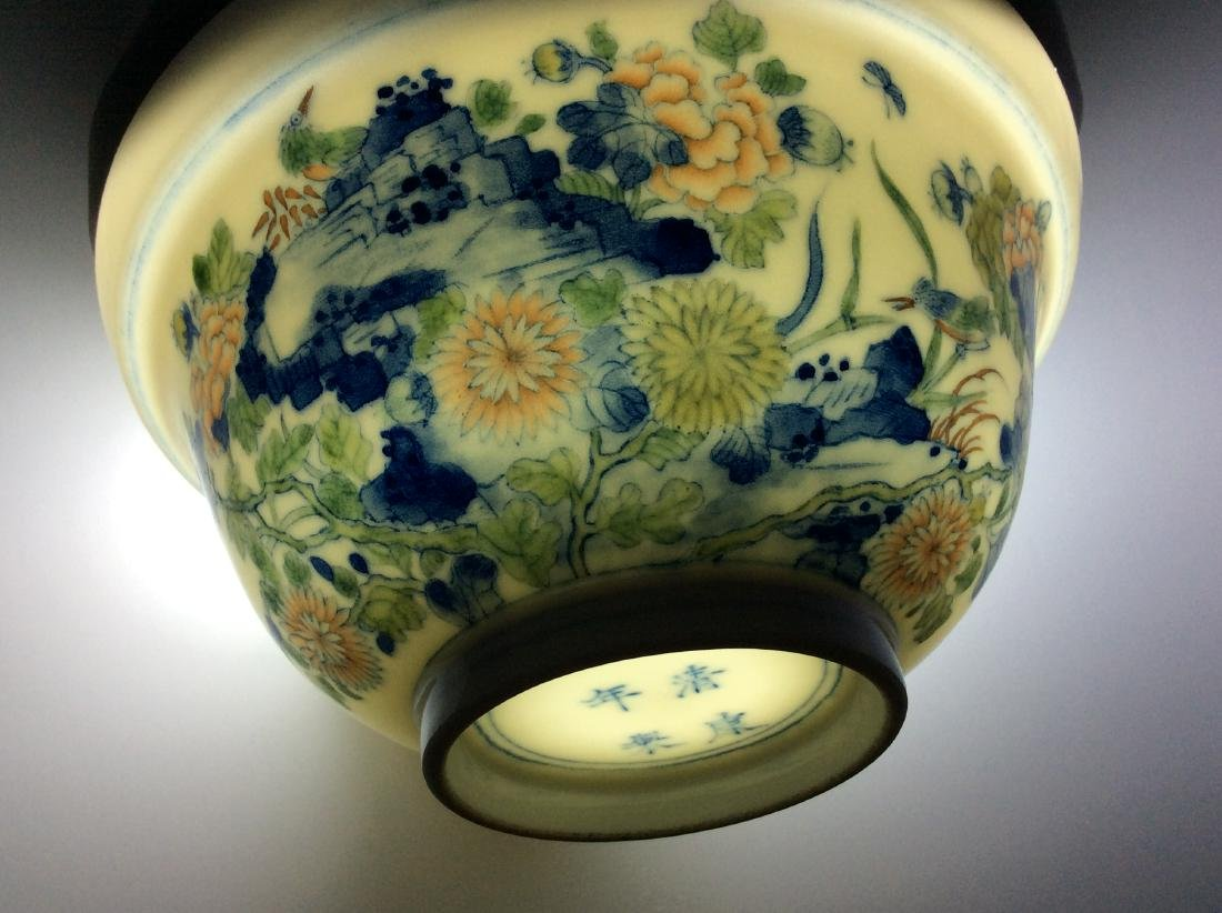 Chinese blue and white with over glaze colors covered - 2