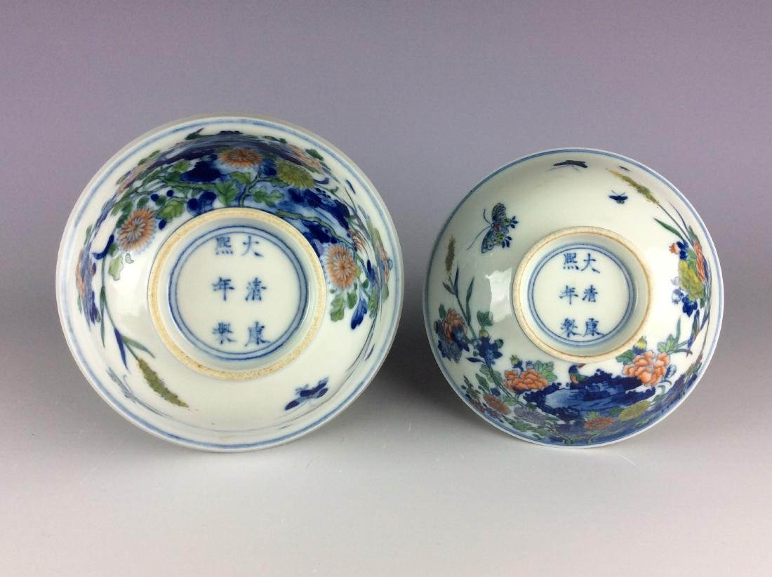 Chinese blue and white with over glaze colors covered - 4