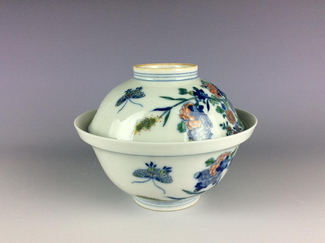 Chinese blue and white with over glaze colors covered - 5