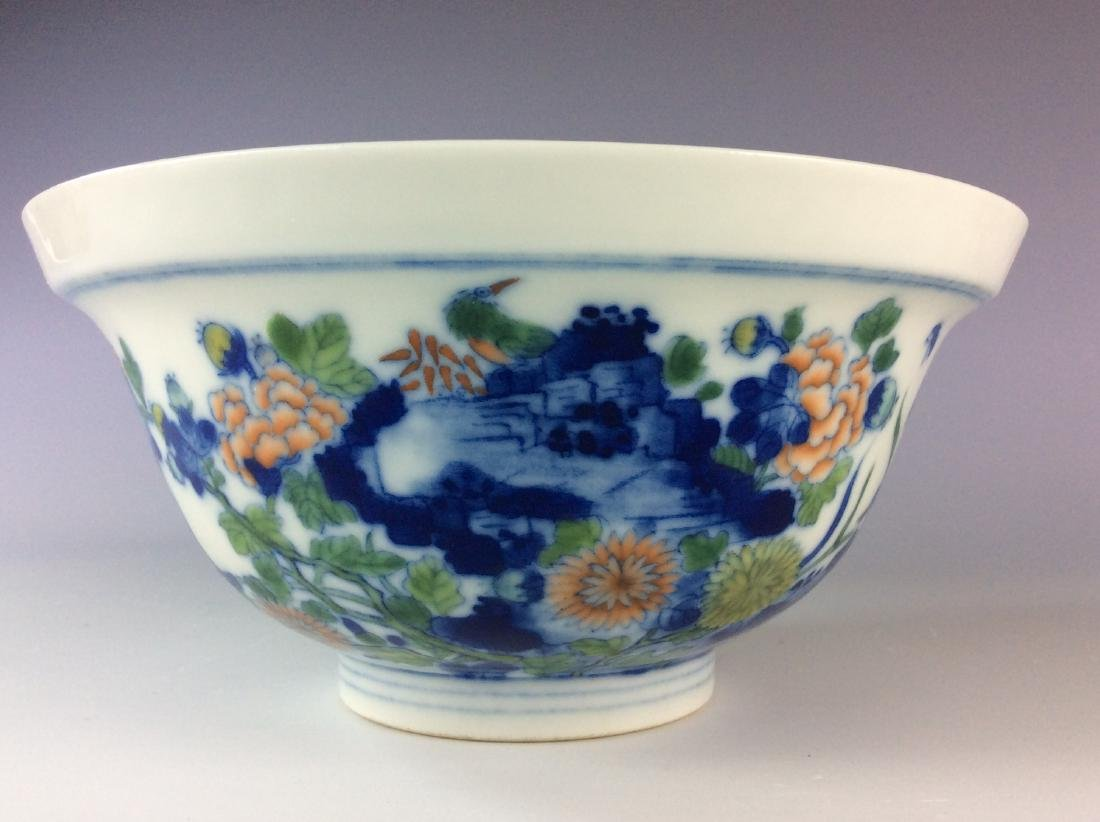 Chinese blue and white with over glaze colors covered - 6