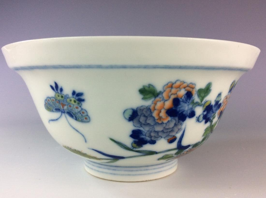 Chinese blue and white with over glaze colors covered - 7