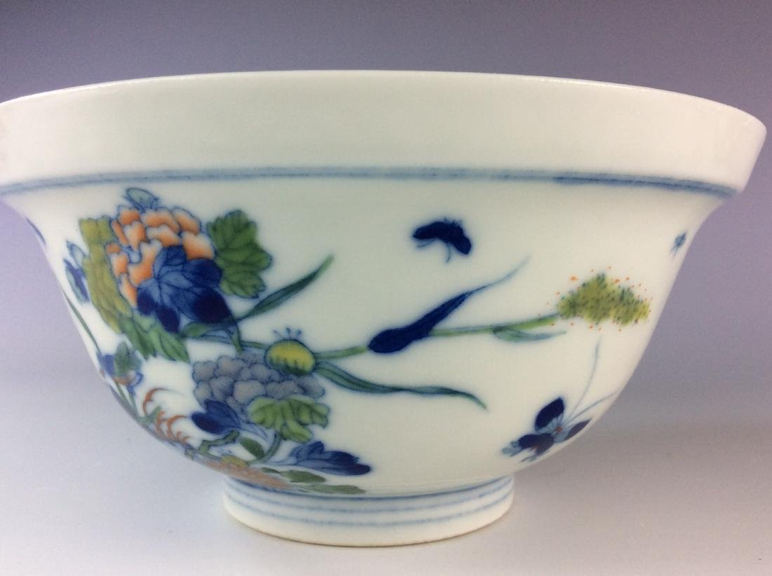 Chinese blue and white with over glaze colors covered - 8