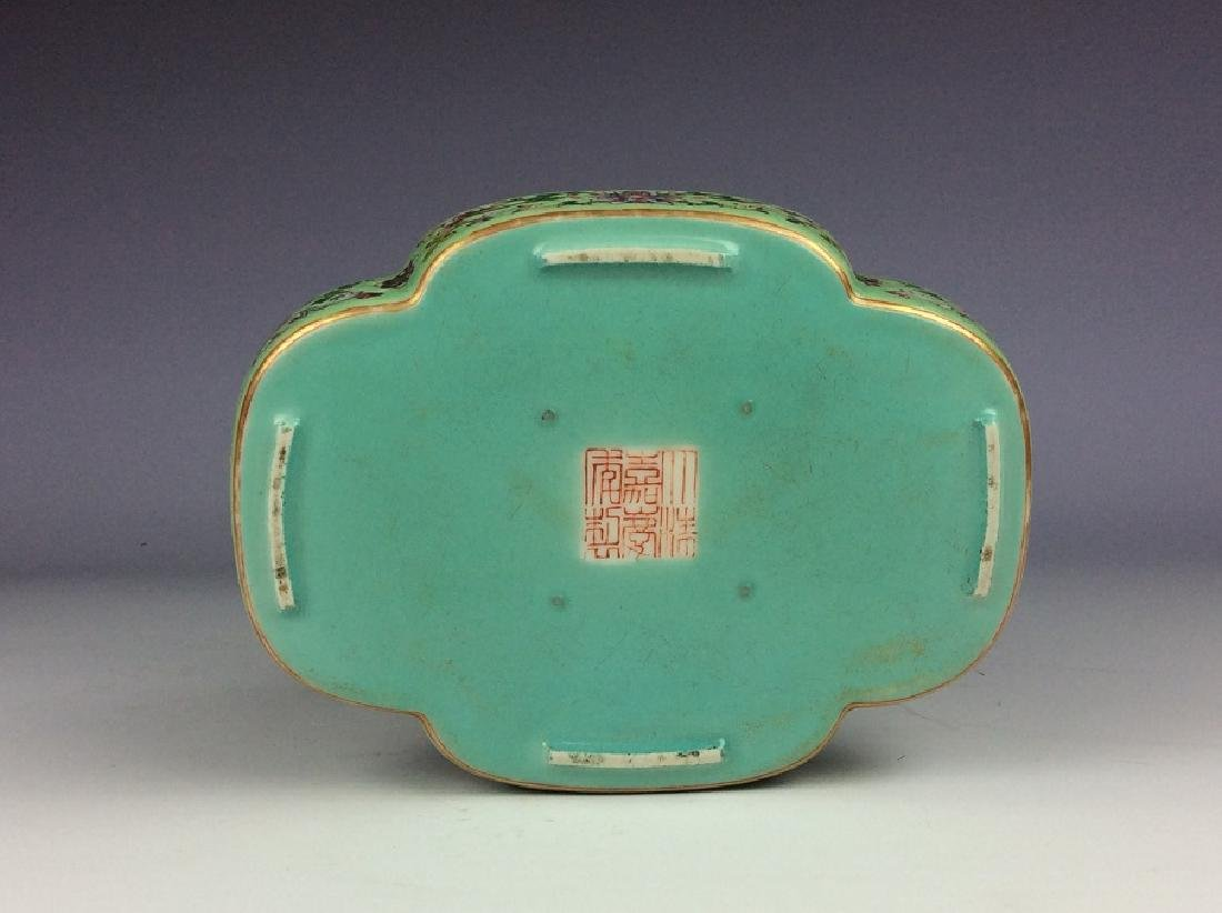 Vintage Chinese porcelain saucer with six-character - 2