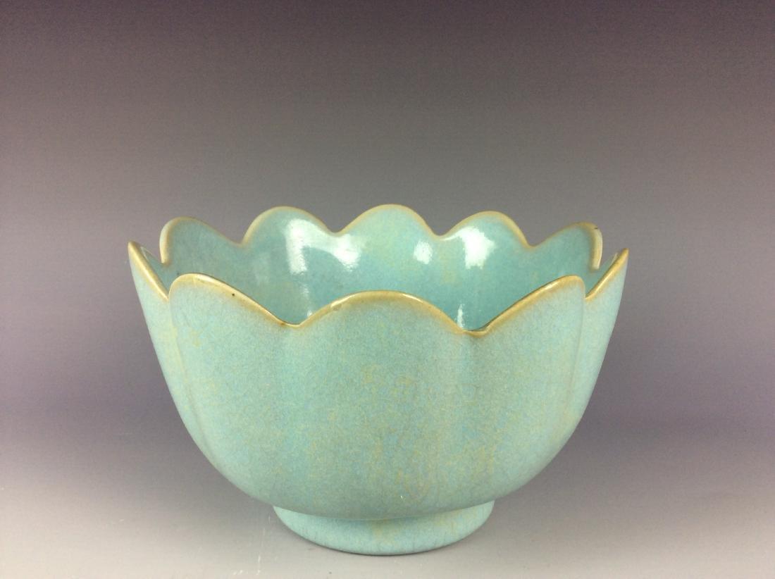 Chinese celadon crackled glaze porcelain warmer - 2