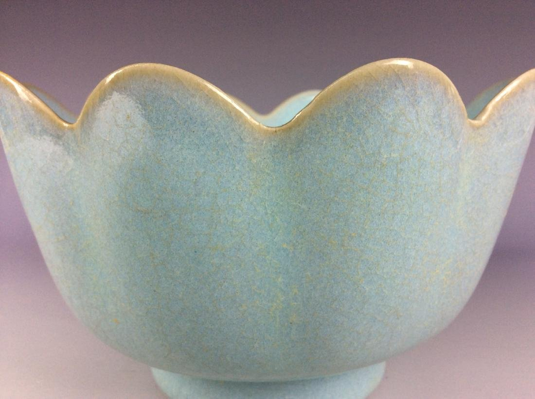 Chinese celadon crackled glaze porcelain warmer - 3