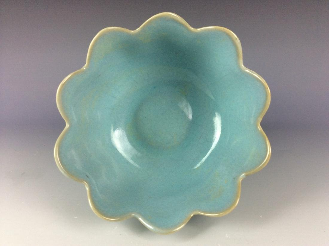 Chinese celadon crackled glaze porcelain warmer - 4