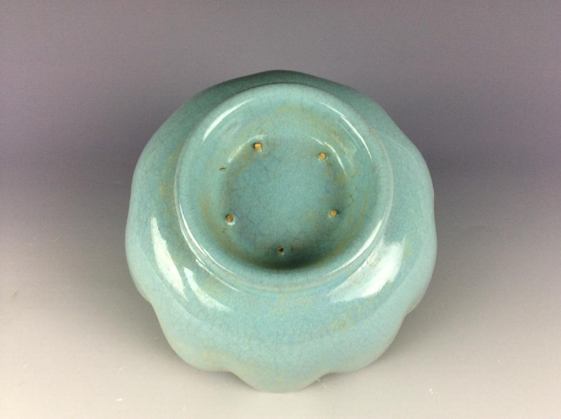 Chinese celadon crackled glaze porcelain warmer - 5