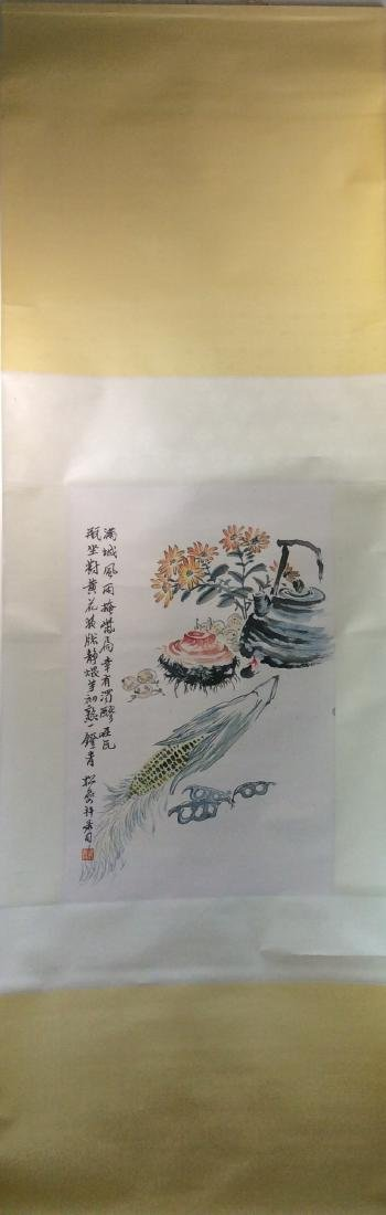 Chinese painting hanging scroll hand painted - 2