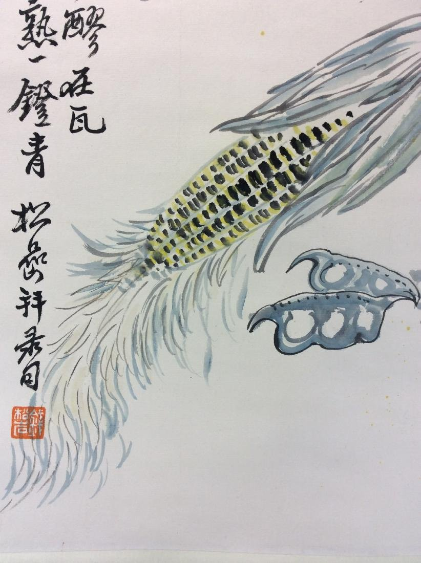 Chinese painting hanging scroll hand painted - 5