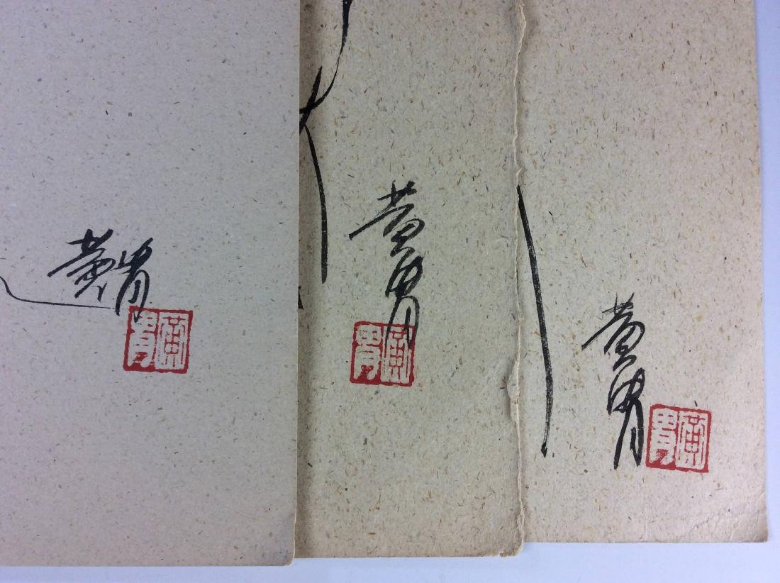 Set of three sketch leaves of figures - 6