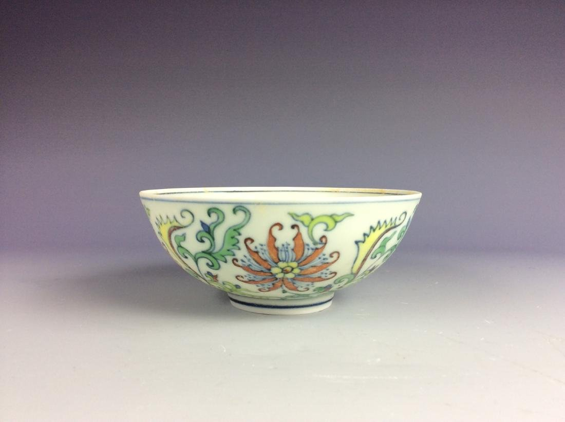Chinese blue and white with over glaze colors bowl with