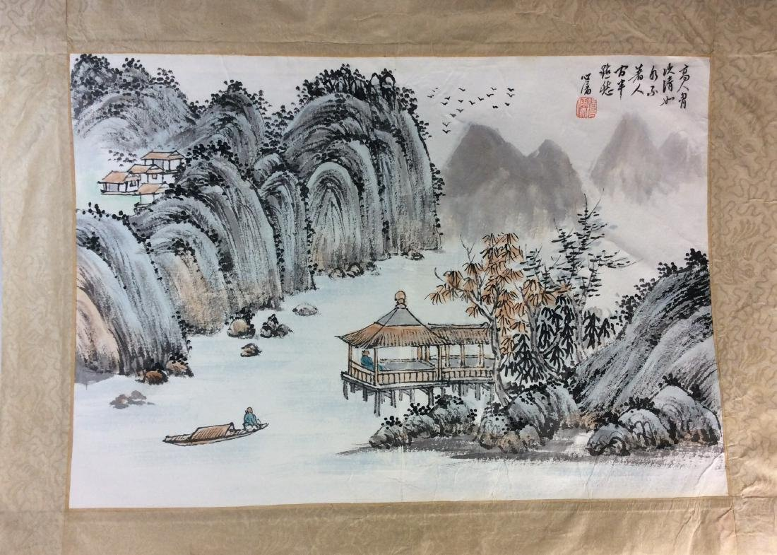 Fine Chinese painting leave, water color and ink on