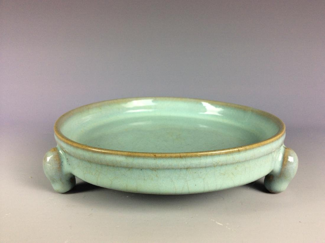 Chinese celadon crackled glaze  tripod washer