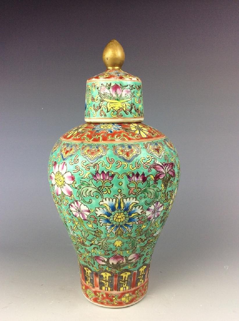 Chinese vase  with peony mark on base