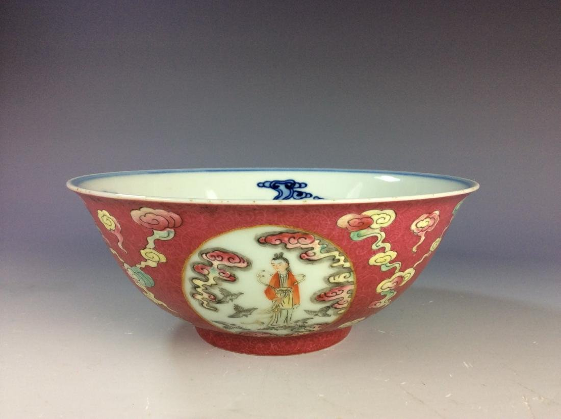 Chinese famillie rose bowl with figures