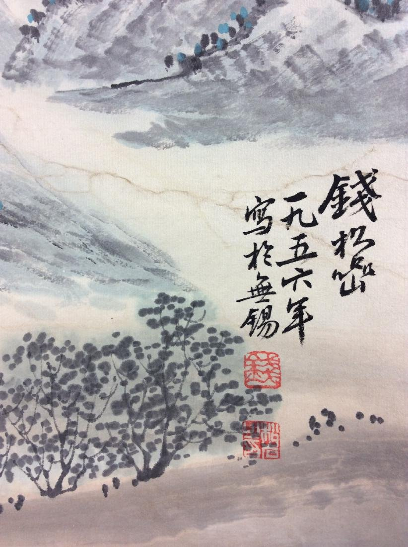 Chinese hand painted hanging scroll. - 3